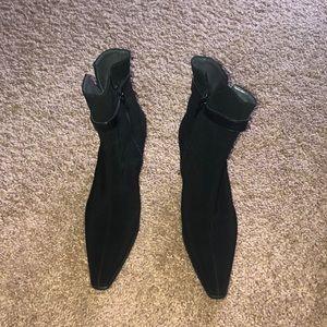 Stuart Weitzman black booties.